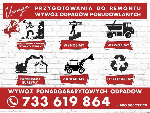 Rozbiórki, wyburzenia, wywóz gruzu, śmieci, itp.