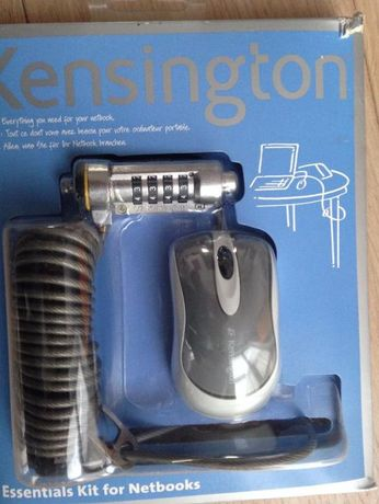 linka zabezpieczająca + myszka przewodowa Kensington do Netbooków