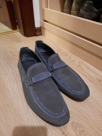 Туфли замшевые летние