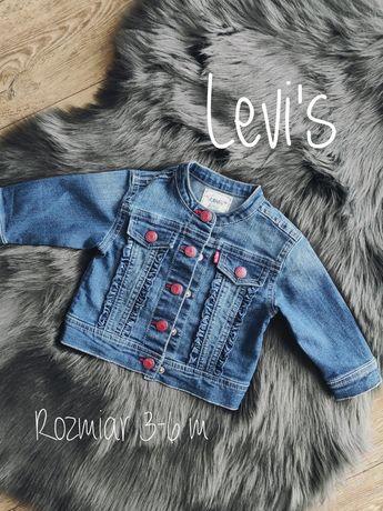 Kurtka katana jeansowa dla dziewczynki Levi's 3-6 m rozmiar 68