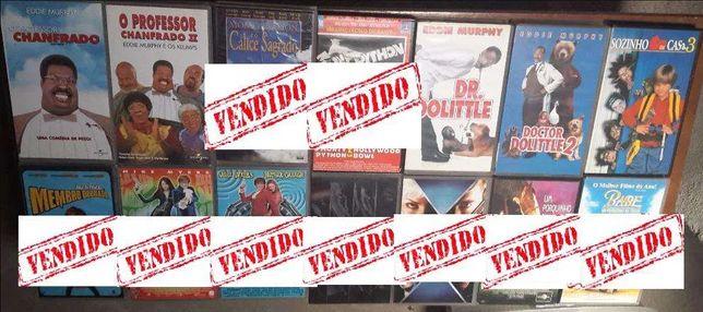 Cassetes VHS diversas (conjuntos). 0,50cent/cada.
