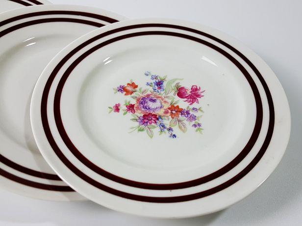Porcelana Ćmielów talerze deserowe Vintage komplet 6 szt polne kwiaty