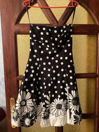 Sukienka bez ramiaczek