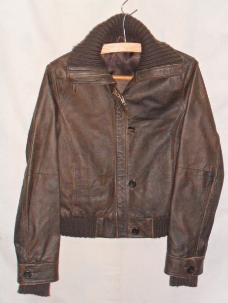 Куртка бомбер кожа винтаж р 48