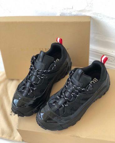 Женские кроссовки Burberry London Arthur Sneakers black люкс качество