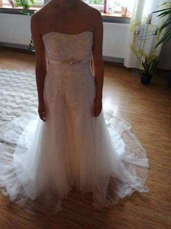 Suknia ślubna tren