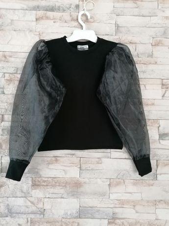 Sweterek, bluzeczka tiulowe rękawki r M