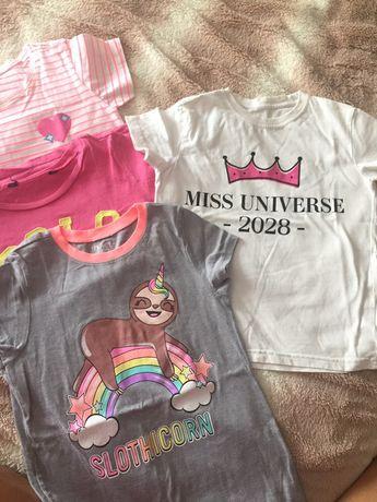 футболки на девочку 7 8 лет zara next hm place primark 128 134