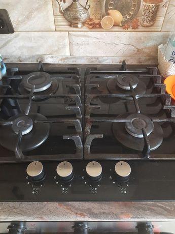 Газова плита керамічна з чогунними рішітками!