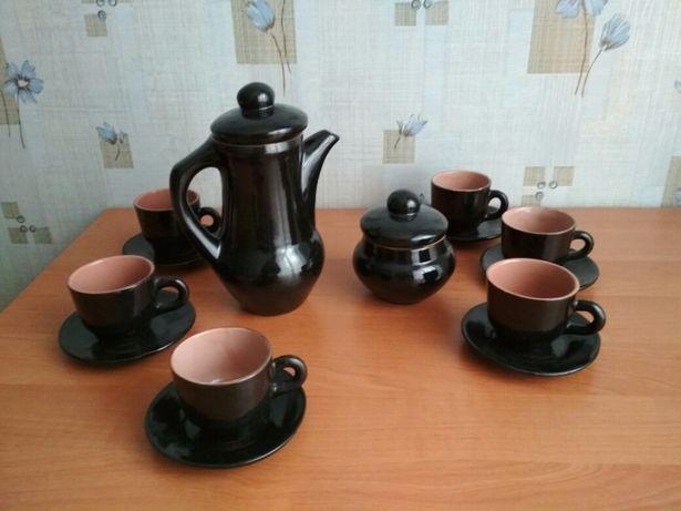Кофейный сервиз,керамика СССР,есть дефект