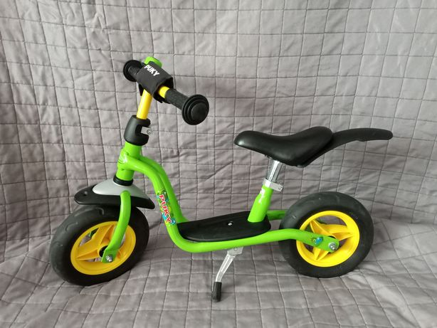 Rower Puky Plus LR M biegówka zielony dzwonek błotnik stopka