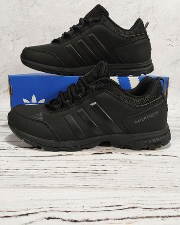 Кроссовки Adidas Waterproof непромокаемые черные мужские 41 42 45 46