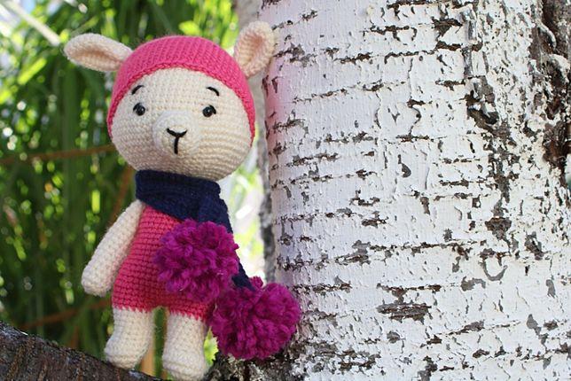 Lama w szaliku handmade