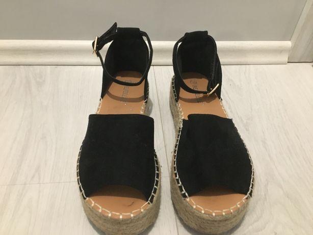 buty damskie sandałki sandały czarne Bestelle TKMAXX 39 lato letnie