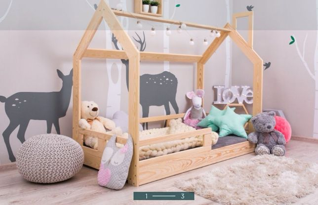 Łóżko skandynawskie łóżeczko dziecięce 190x90