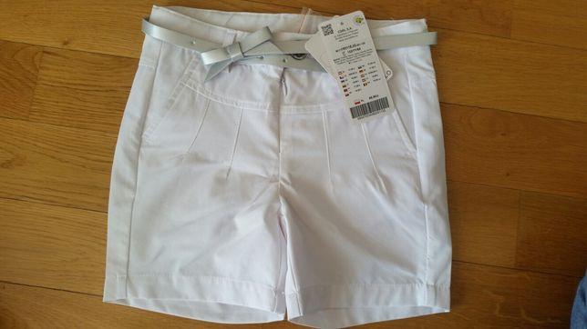 Białe spodenki szorty coccodrillo 122 Nowe