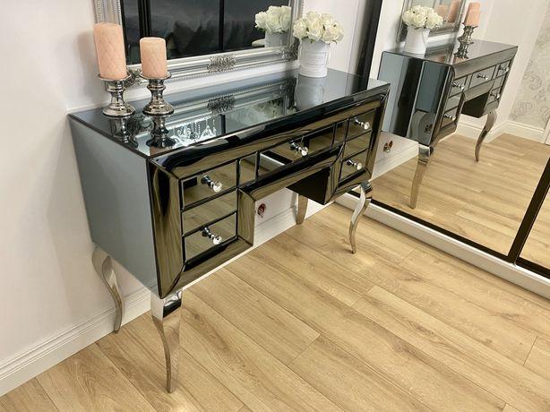 Piękna elegecnka toalteka konsola szklana biurko glamour