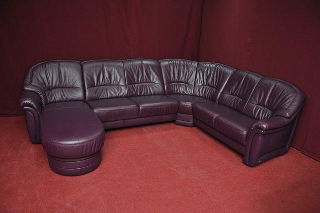 Шкіряний куток. Диван в офіс. Домашній диван. Кожаный диван. БУ