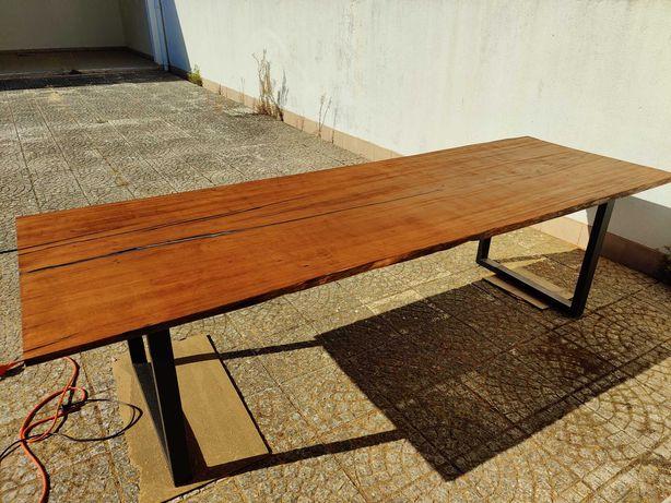 Mesa jantar madeira epoxy