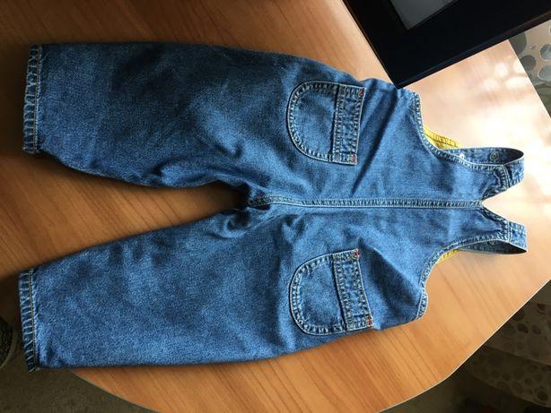 Весенний джинсовый комбинезон, штаны, штанишки 6-12 месяцев