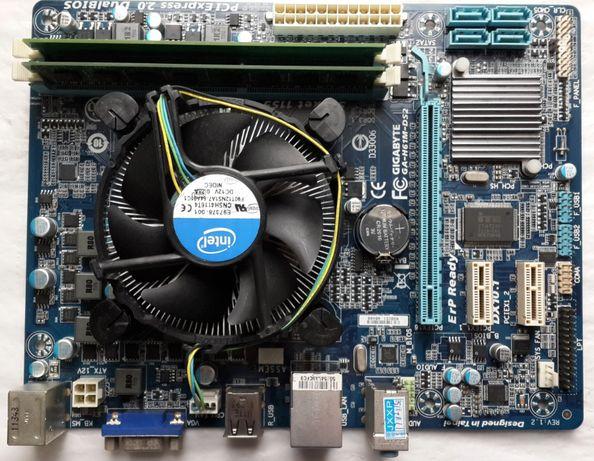 Комплект 1155 Материнка GIGABYTE + i5-3470 3.2-3.6GHz +DDR3 8Gb