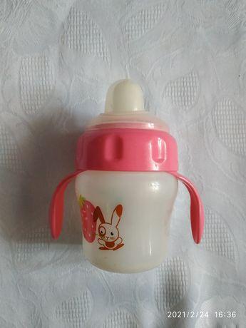 Бутылочка поильник Avent 150мл 6+ с резиновым носиком