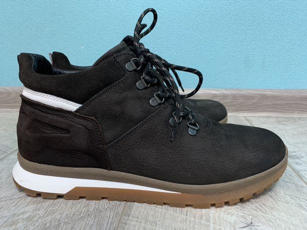 Ботинки кросовки Fabiani зимние нубук Коричнево-белые Италия 28.5