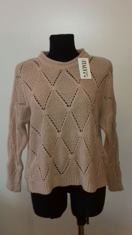 Sweterek damski różowy, nowy, rozm. uniwersalny, hit, najtaniej