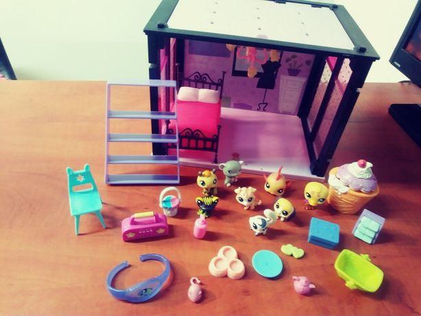 Littlest Pet Shop domek +figurki