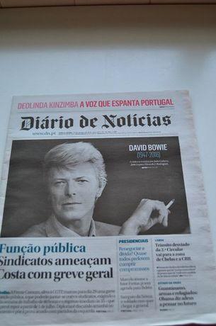 Jornal Diario de Noticias David Bowie