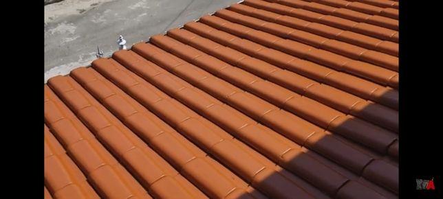 Limpeza e pintura em telhados.