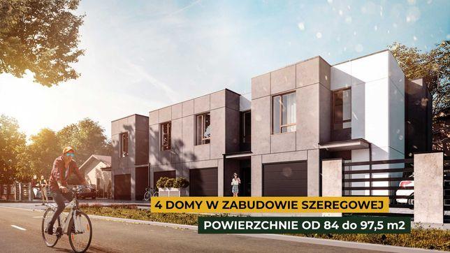 REZERWACJA / DOM A: 84 m2 z garażem, ogródek 80 m2, parking