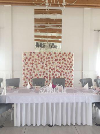 Ścianka kwiatowa ścianka weselna dekoracja wesele urodziny kwiaty