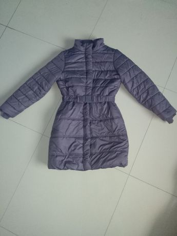 Ciepła kurtka/płaszczyk dziewczęcy r152