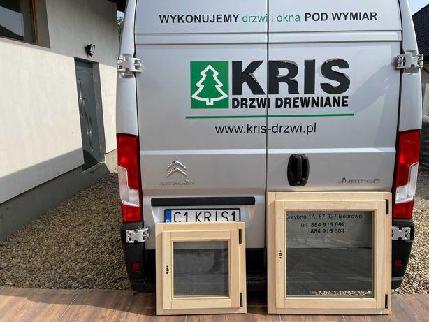 Okno drewniane  z szybą podwójną 80x80 Dostawa cała Polska OD RĘKI