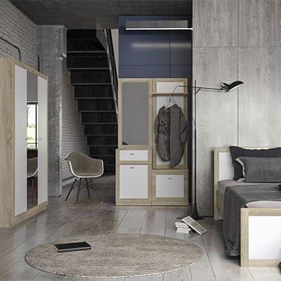 Спальня Малага -20% до 31.01 Кровать160*200, Шкаф150 см, прихожая110см