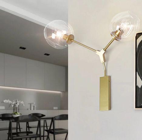 Nowoczesna szklana lampa Safavieh kinkiet oświetlenie loft