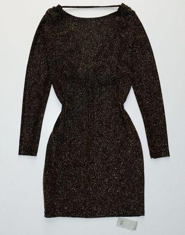 Новое золотое черное нарядное платье футляр 44 - 46 размер