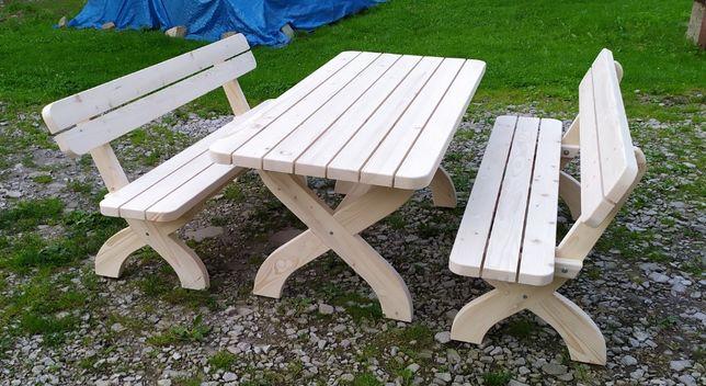 Meble ogrodowe drewniane stolik ławki MODEL 1