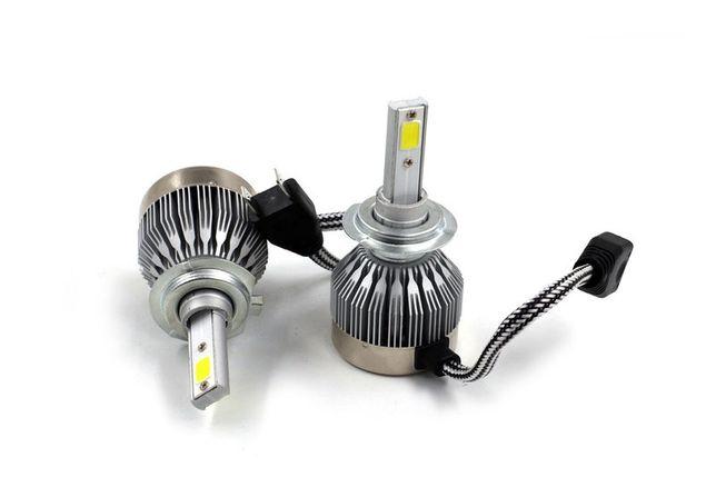Светодиодная лампа Н1 Н7 6000K без вентилятора H1 H7 12v 24v