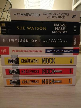 7 książek: 4 kryminały+2 thrillery psychologiczne+ Zjawiska paranormal