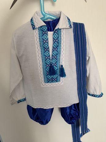 Вышиванка костюм шаровары 4-5 лет