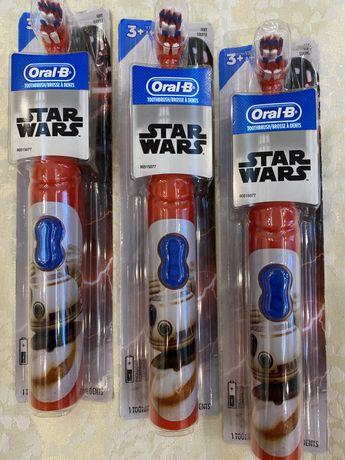 Детская электрическая зубная щётка Oral-B; Щетка Звёздные Войны