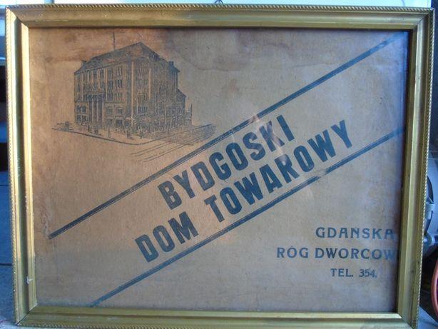 Stara reklama Dom towarowy Bydgoszcz II RP