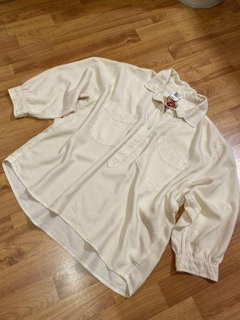 Рубашка новая оверсайз цвета светлий персик H&M