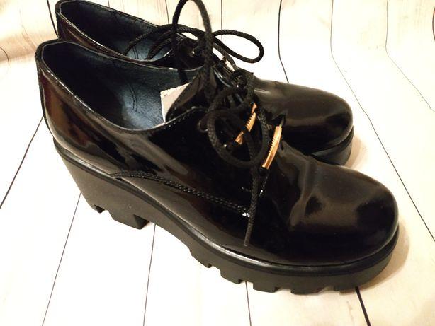 Туфли женские кожаные р.37
