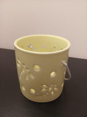 Zielony świecznik na tealighty