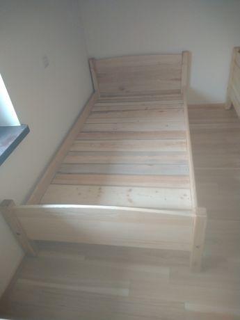 Łóżko jesionowe i dębowe