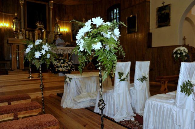 14 szt. metalowe kwietniki /świeczniki, dekoracja kościoła