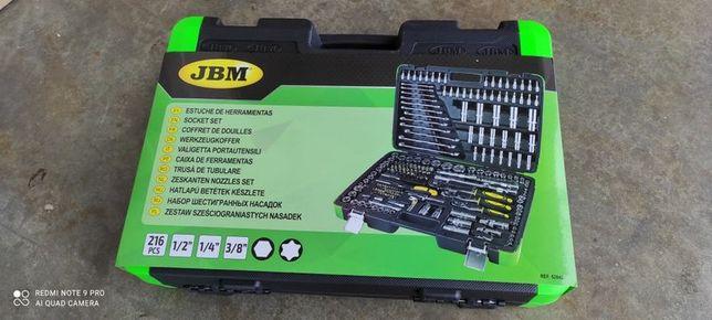 Mala de ferramenta JBM 216 peças(IVA e portes incluídos)